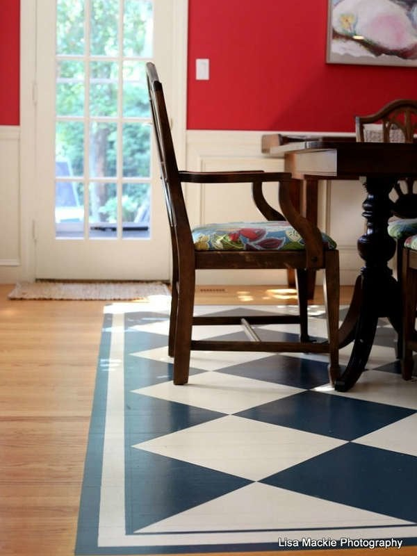 Painted Floors 12 Colorful And Creative Ideas For Wood Tile And