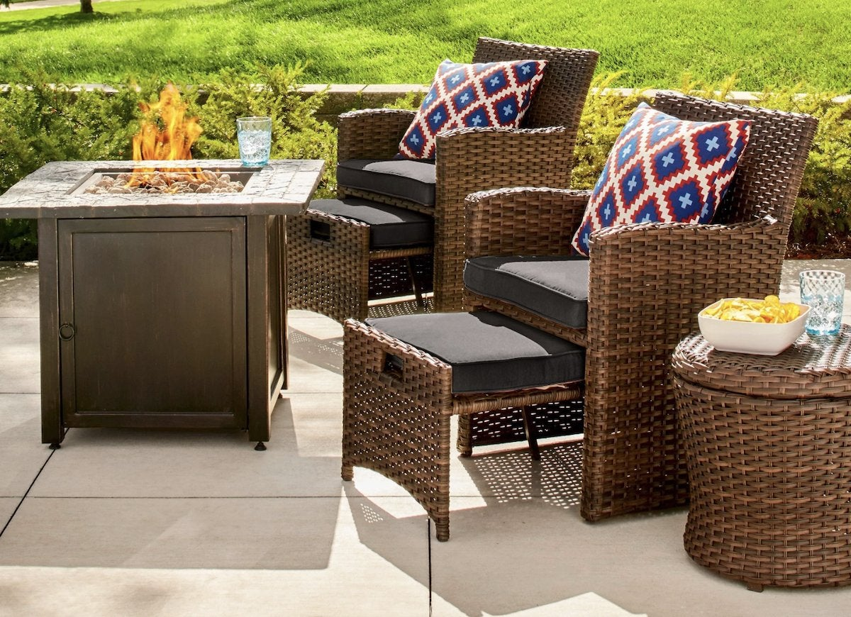 Patio Chairs With Footstools