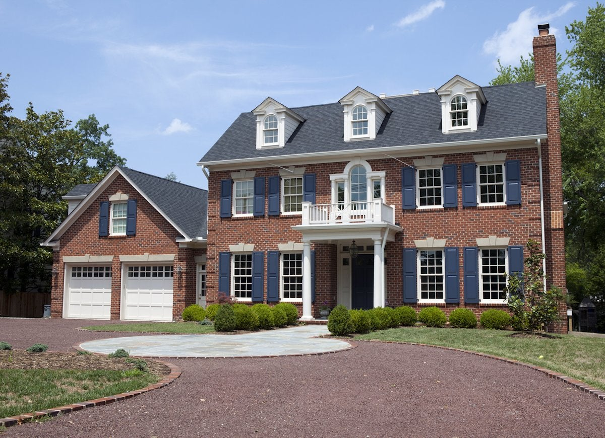 Notice What Colors Exist On Your Exterior That Cannot Be Changed The Dark Gray Flecks In Brick For Instance Or Blue Cast Roofing
