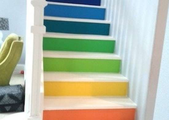 Multi-colored-painted-stairs-bfarhardesign