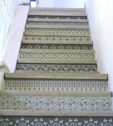 2 23 09 stenciled stairs apartmenttherapy