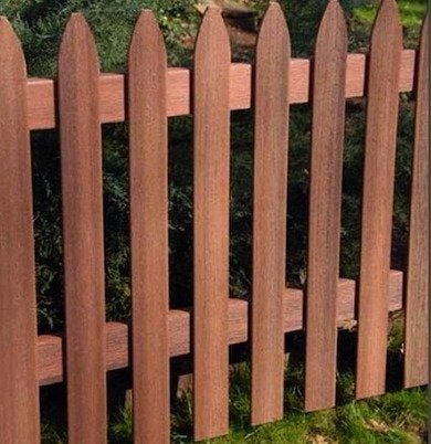 Composite fence style example 6 fence connection inc