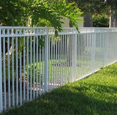 Aluminum fencing white gulfatlanticfencing
