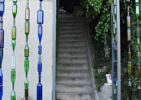 Glass plastic bottles recycling fences lushhome