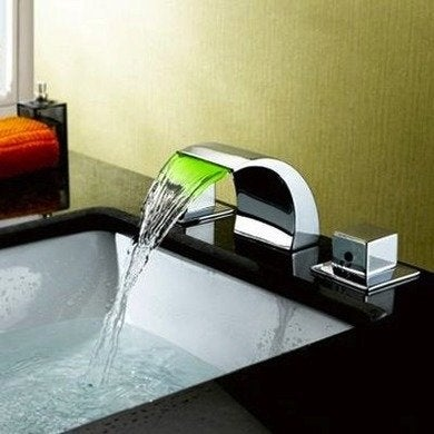 Sumerain led waterfall widespread bathroomfaucet fixtureuniverse