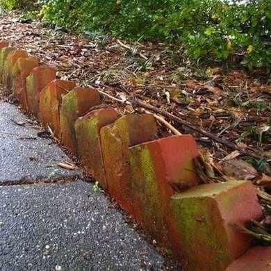 Angled bricks landscape edging ehow