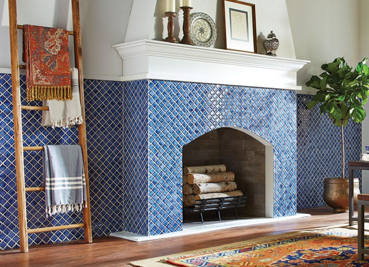 14 Fresh Designs For Tiled Fireplaces Bob Vila Bob Vila