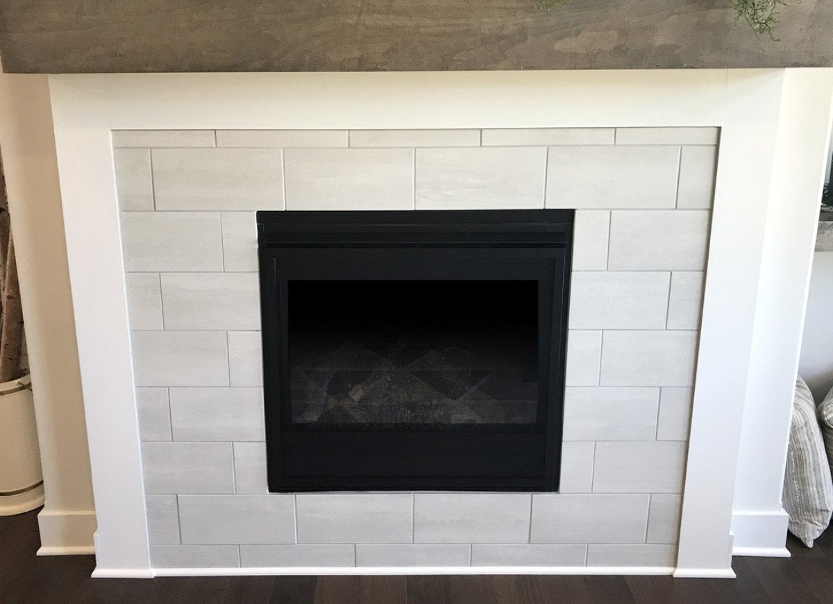 Fire Place With Ceramic Tiles