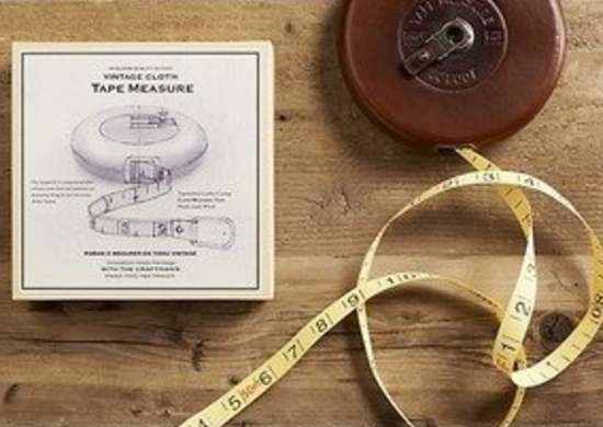Restoration hardware vintage cloth tape measure bob vila gifts
