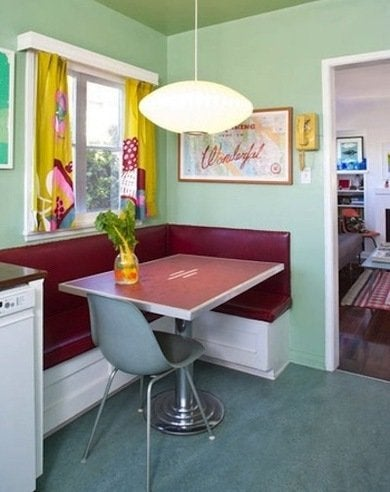 Retro banquette kitchen designsponge