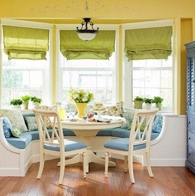 Bay window kitchen banquette traditionalhome