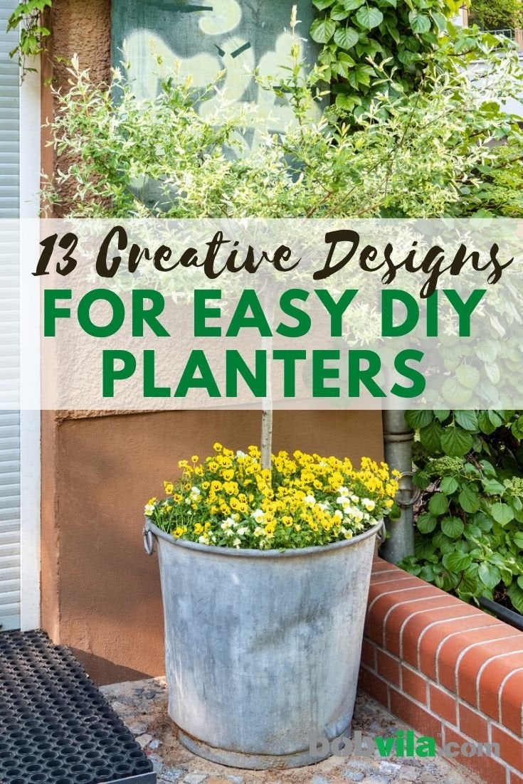 Diy Planter 13 Designs To Create With Everyday Things Bob Vila