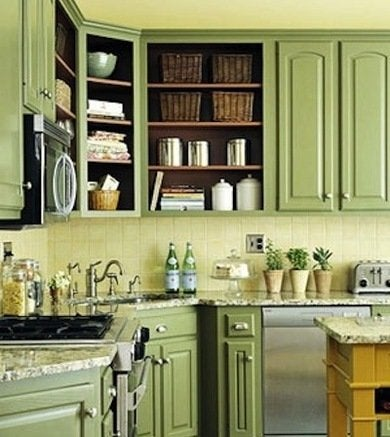 Green kitchen designedtothenines