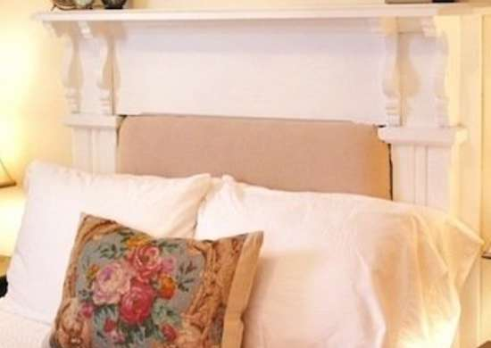 Mantle DIY Headboard