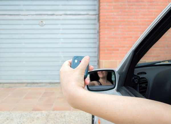 car garage door headlights test