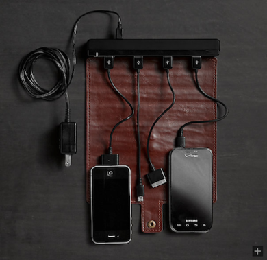 Roll up travel charger restorationhardware