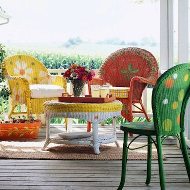 New Outdoor Furniture Not In Your Budget? Use A Vibrant Palette Of Green,  Orange, Yellow, White, And Coral Paint To Pull Together An Assortment Of ... Part 84