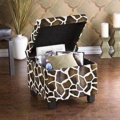 Giraffe storage ottoman