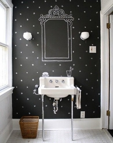 Chalkboard paint bathroom