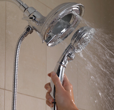 Delta in2ition dual shower head