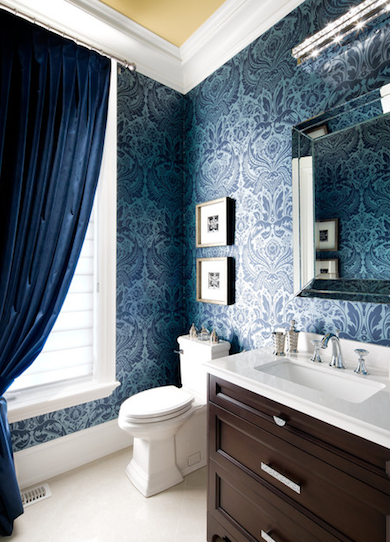 Bathroom wallpaper 10 bathroom trends of today designers tell all bob vila for Wallpaper trends for bathrooms