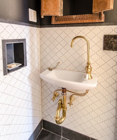 Bathroom trends unlacquered brass