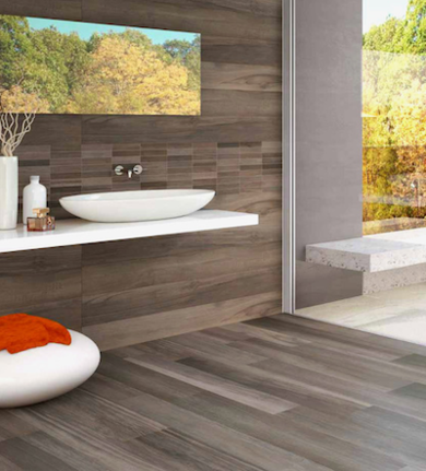 Bathroom trends porcelain tiles