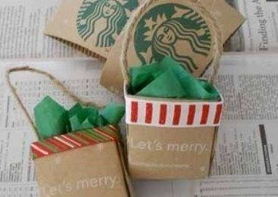 Labworks360 starbucks christmas mini shopping bag ornament bob vila