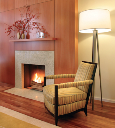 Gleicherdesigngroup greentownhouse fireplace