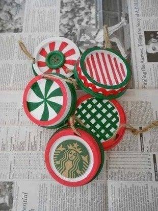 Labworks360 starbucks christmas sip lid ornaments bob vila