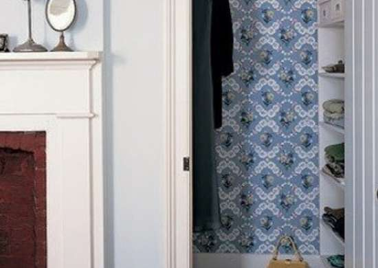 Wallpaper in closet marthastewart
