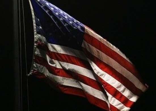 Flag at Night