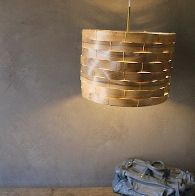 Diy lampshade projects 9 you can make before lights out bob vila this near dead ringer for a west elm pendant lamp was made using strips of linoleum flooring and wire you could just as easily use veneer and a higher greentooth Gallery