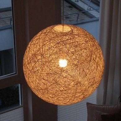 Diy lampshade projects 9 you can make before lights out bob vila diy string lampshade aloadofball Image collections