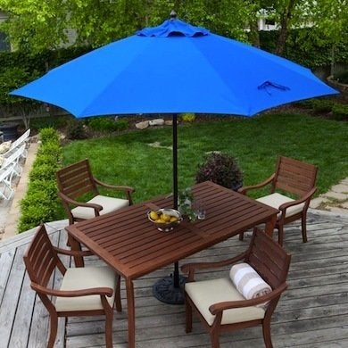 Protect Your Family From The Harsh Rays Of The Sun With The Classic And  Beautiful Sunbrella Umbrella By Coral Coast. It Slips Easily Into Patio  Tables, ...