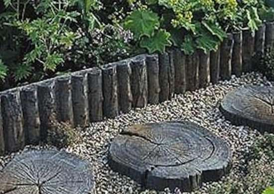 Sliced wood steps make stepping stones 10 diy ideas to Round wooden stepping stones