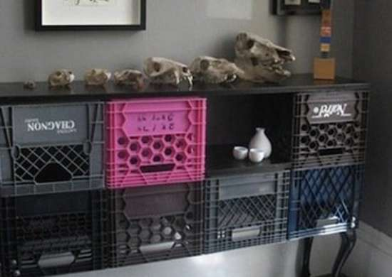 Milk Crate Storage