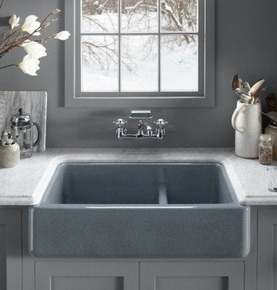 Kohler whitehaven smartdivide kitchensink