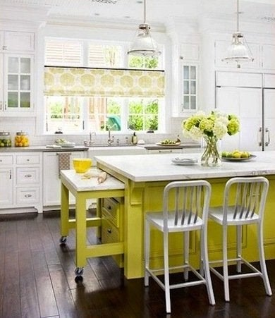 Colorful kitchen islands ideasdecor