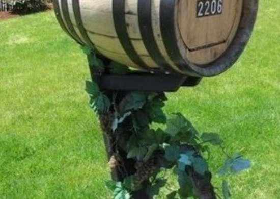 Wine Barrel Mailbox