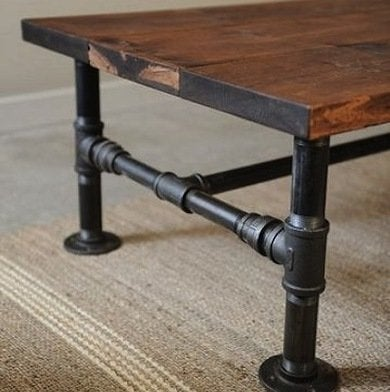 A Rustic Take On The Industrial Look, This Easy DIY Incorporates Plumbersu0027  Pipes As The Table Legs. A Reclaimed Wood Top Is Ideal, But The Worn  Appearance ...