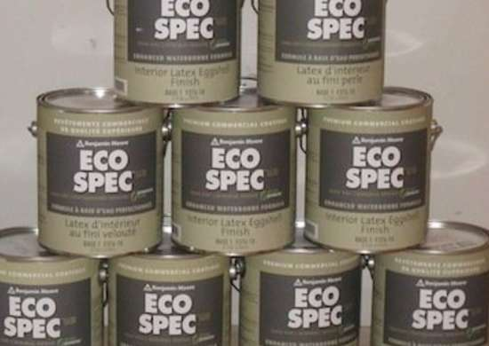 Eco paint natural paint give your walls a fresh coat for Benjamin moore eco spec paint