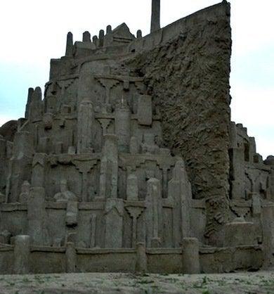 Minas tirith sandcastle