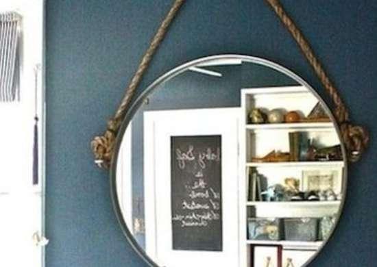 DIY Hanging Mirror