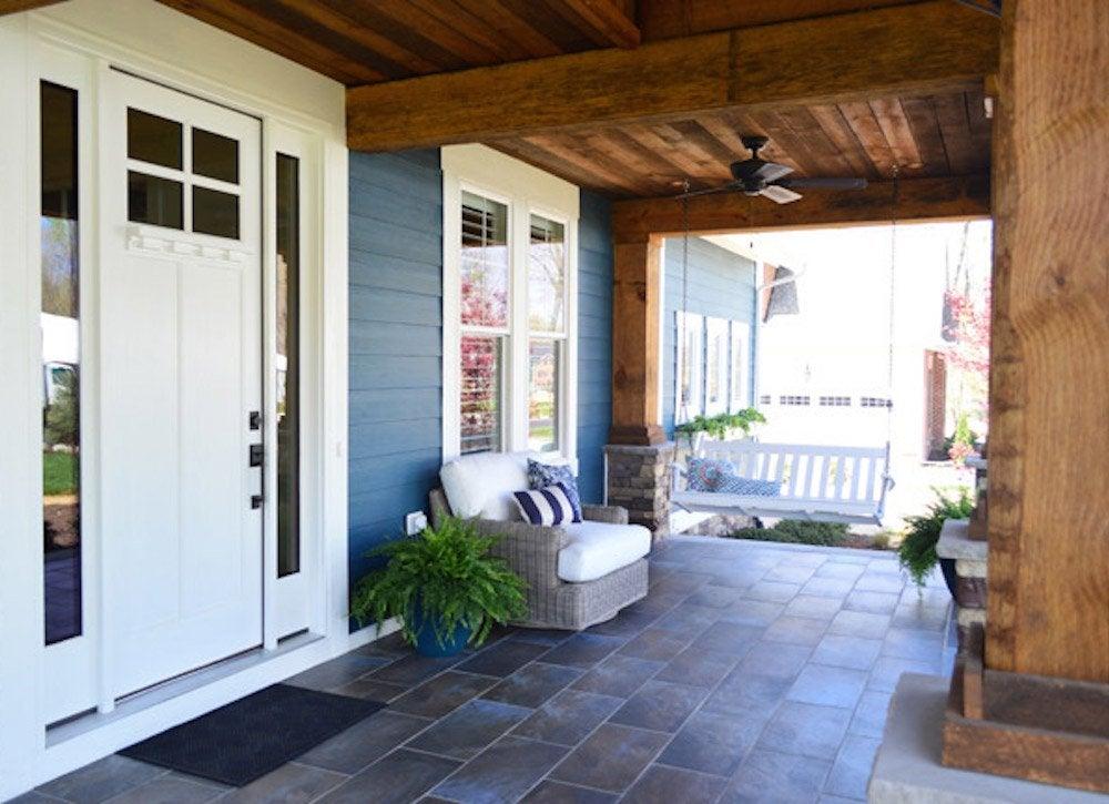 Ceramic tile floor porch