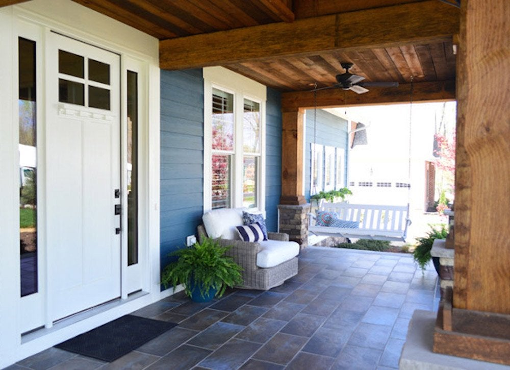 Ceramic tile floor porch