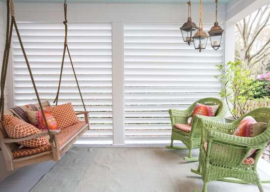 Oversized shutters porch