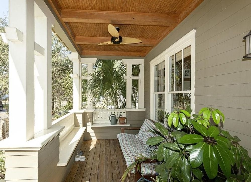 Built in benches porch