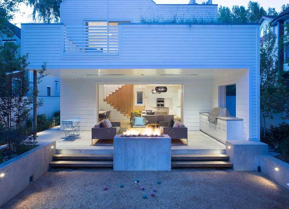 Bocce ball porch