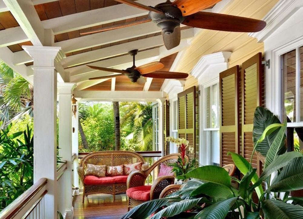 Decorative celing fans porch